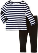 Kate Spade Stripe Top & Legging (Baby) - French Navy/Cream - 18 Months