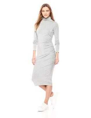 Michael Stars Women's Jules Jersey Long Sleeve Mock Neck Midi Dress