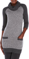 forte Cowl Neck Cashmere Tunic Sweater