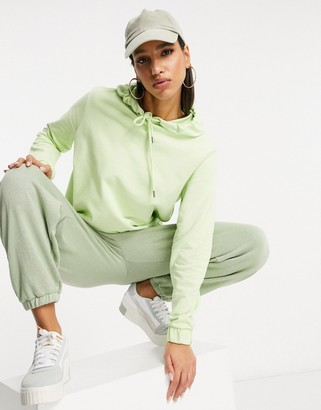 NA-KD oversized hoodie in lime green