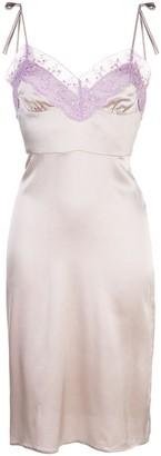 Cynthia Rowley Kat Lace Trim Slip Dress
