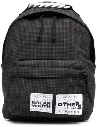 Eastpak x Raf Simons Pak'r XS small check backpack