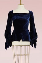 Roland Mouret Wicklow velvet blouse
