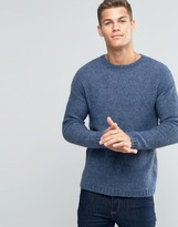 Benetton Drop Shoulder Brushed Sweater