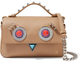 Fendi Double Baguette Micro Embellished Leather Shoulder Bag - Baby pink