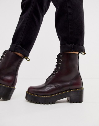 Dr. Martens Shriver Hi Wyoming heeled ankle boots in burgundy