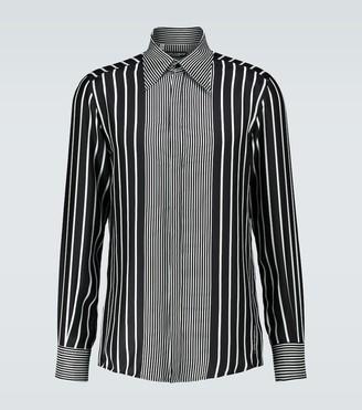 Dolce & Gabbana Long-sleeved silk shirt