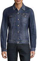 Diesel Men's Elshar Denim Jacket - Blue, Size x-large