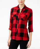 Maison Jules Plaid Shirt, Only at Macy's