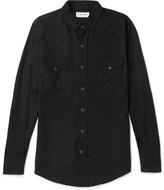 Saint Laurent Slim-fit Twill Shirt - Black