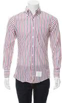 Thom Browne Striped Button-Up Shirt