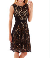 JCPenney Danny & Nicole Sleeveless Lace Fit-and-Flare Dress