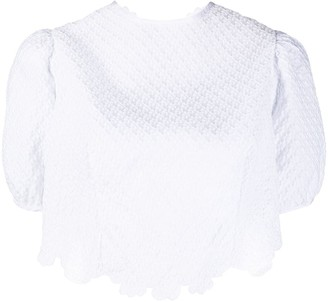 Cecilie Bahnsen Cropped Open Back Top