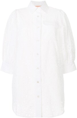 BAPY BY *A BATHING APE® Eyelet Embroidered Shirt