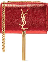 Saint Laurent Monogramme Kate Small Metallic Textured-leather Shoulder Bag - one size