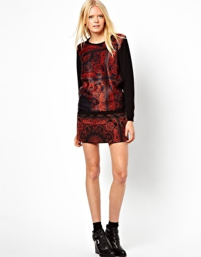 The Textile Rebels Skirt in Chicano Print - Multi