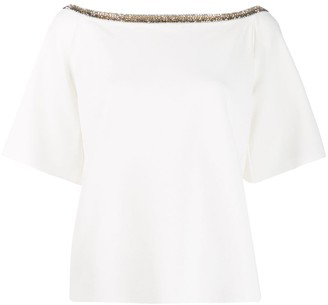 Stella McCartney embellished collar T-shirt