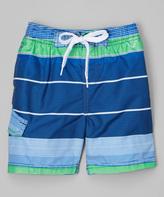 Kanu Surf Navy Reflection Swim Trunks - Boys