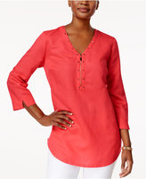 JM Collection Studded Zip-Detail Tunic, Created for Macy's