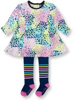 Le Top Confetti Print Dress & Tights 2-Piece Set (Toddler Girls)