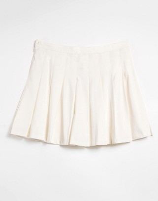 Monki Marianne pleated mini skirt in white
