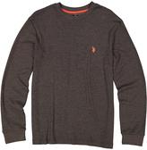 U.S. Polo Assn. Brown Waffle-Knit Long-Sleeve Tee