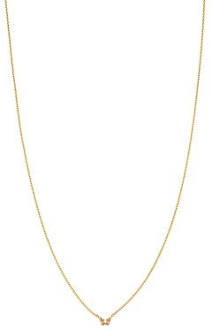 Zoë Chicco 14K Yellow Gold Itty Bitty Butterfly Charm Necklace, 16
