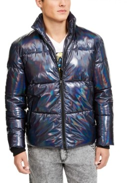 INC International Concepts Inc Onyx Men's Iridescent Puffer Jacket, Created for Macy's
