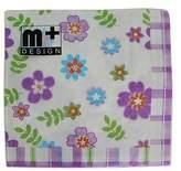 asah 20 Pack Floral w/ Purple Check Design 2 ply Premium Party Napkins 33x33cm MQ-357