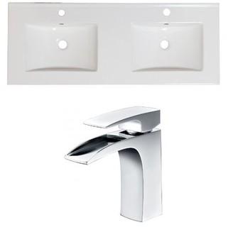 "American Imaginations 59"" Double Bathroom Vanity Top"