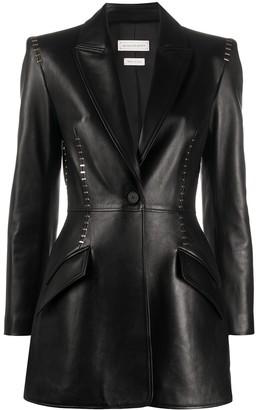 Alexander McQueen Stapled leather blazer
