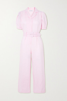 Faithfull The Brand + Net Sustain Frederikke Belted Linen Jumpsuit - Pastel pink