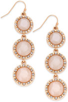 INC International Concepts Gold-Tone Stone Triple-Drop Linear Earrings, Only at Macy's