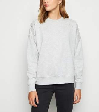 New Look Faux Pearl Embellished Sweatshirt