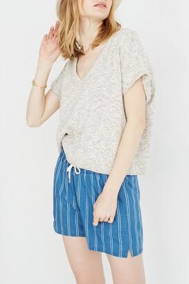 Madewell Ellendale Marled Short Sleeve Sweater Top