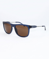 Calvin Klein Blue & Brown Square Sunglasses - Unisex