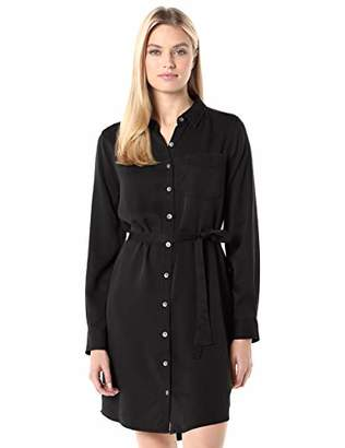 Daily Ritual Tencel Long-Sleeve Shirt Dress Casual,XXL