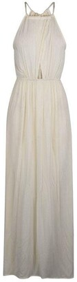 Biba Keyhole Metallic Stripe Maxi Dress