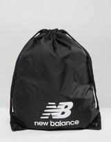 New Balance Solar Drawstring Backpack In Black