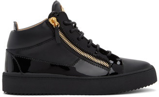 Giuseppe Zanotti Black Birel Vague May London Sneakers
