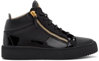 Giuseppe Zanotti Black Birel Vague May London Sneakers