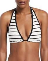 Kate Spade Stinson Beach Striped Halter Bikini Swim Top