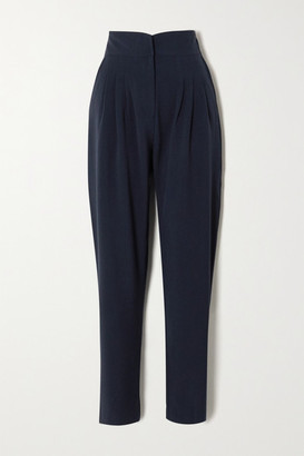 ÀCHEVAL PAMPA Gato Pleated Woven Tapered Pants - Blue