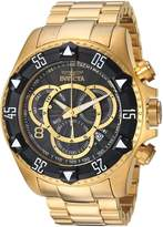Invicta Men's 'Excursion' Quartz Stainless Steel Casual Watch, Color:Gold-Toned (Model: 24265)