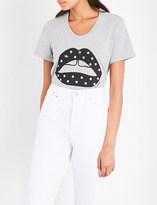 Markus Lupfer Polka-dot Lara lip cotton T-shirt