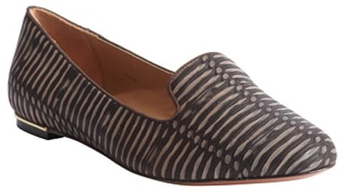 Rachel Zoe brown embossed leather 'Zahara' loafers