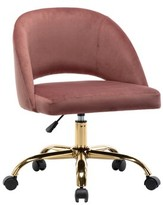 Everly Perales Task Chair Quinn Upholstery Color: Pink