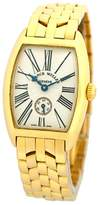 "Franck Muller Cintree Curvex"" 18K Yellow Gold Silver Dial 25mm Womens Watch"
