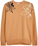 Demy Lee Remy Apricot Floral Cashmere Jumper