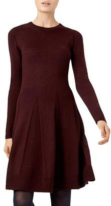Hobbs London Sarah Knit Fit-and-Flare Dress
